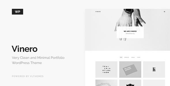 Wordpress Kreativ Template Vinero - Very Clean and Minimal Portfolio WordPress Theme