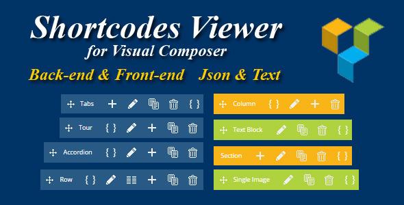 Wordpress Add-On Plugin Visual Composer - Shortcode Viewer