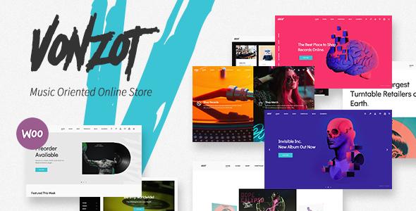 Wordpress Shop Template Vonzot - Music Oriented WooCommerce Theme
