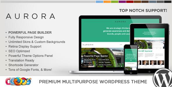 Wordpress Corporate Template WP Aurora Responsive Multipurpose WordPress Theme