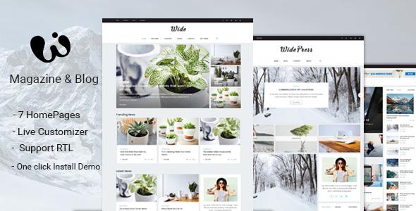 Wordpress Blog Template Wide - Magazine & Blog WordPress Themes