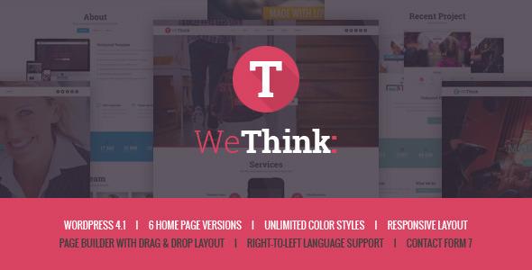 Wordpress Corporate Template We Think - Single&Multi Page WordPress Theme