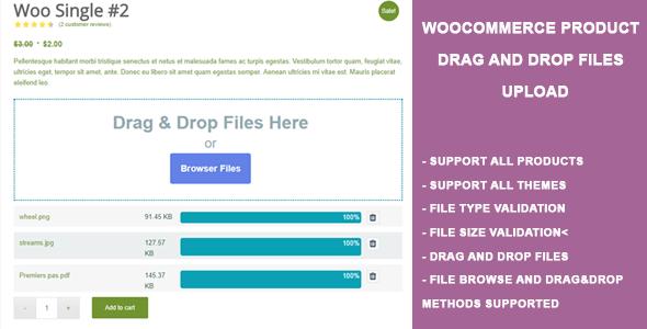 Wordpress E-Commerce Plugin WooCommerce Product Drag and Drop Files Upload