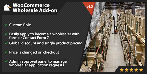Wordpress E-Commerce Plugin WooCommerce Wholesale Add-on