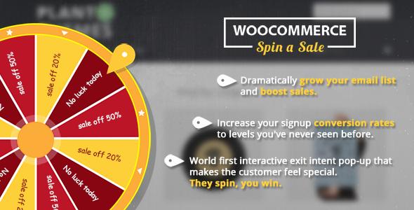 Wordpress E-Commerce Plugin Woocommerce Spin a Sales