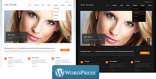 Wordpress Corporate Template WordPress Business TheSame Template