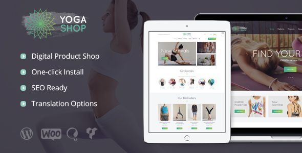 Wordpress Shop Template Yoga Shop - A Modern Sport Clothing & Equipment Shop WordPress Theme