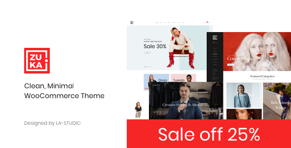 Wordpress Shop Template Zuka - Clean, Minimal WooCommerce Theme