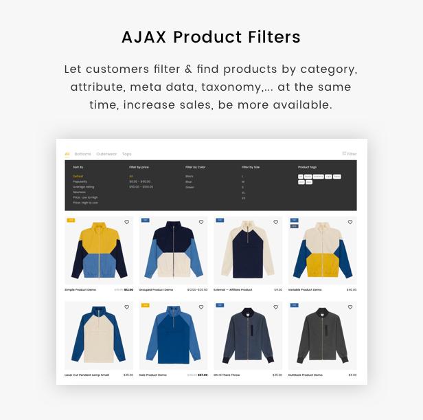 Kaviar - Ajax Option Woocommerce Template