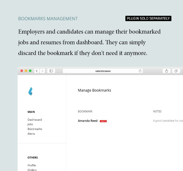 Lesezeichenverwaltung - Dashboard