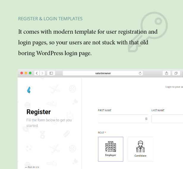 Registrieren Sie sich auf Login-Seitenvorlagen