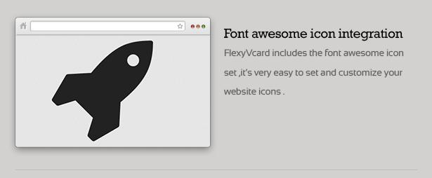 FlexyVcard - Responsive vCard Wordpress Layout