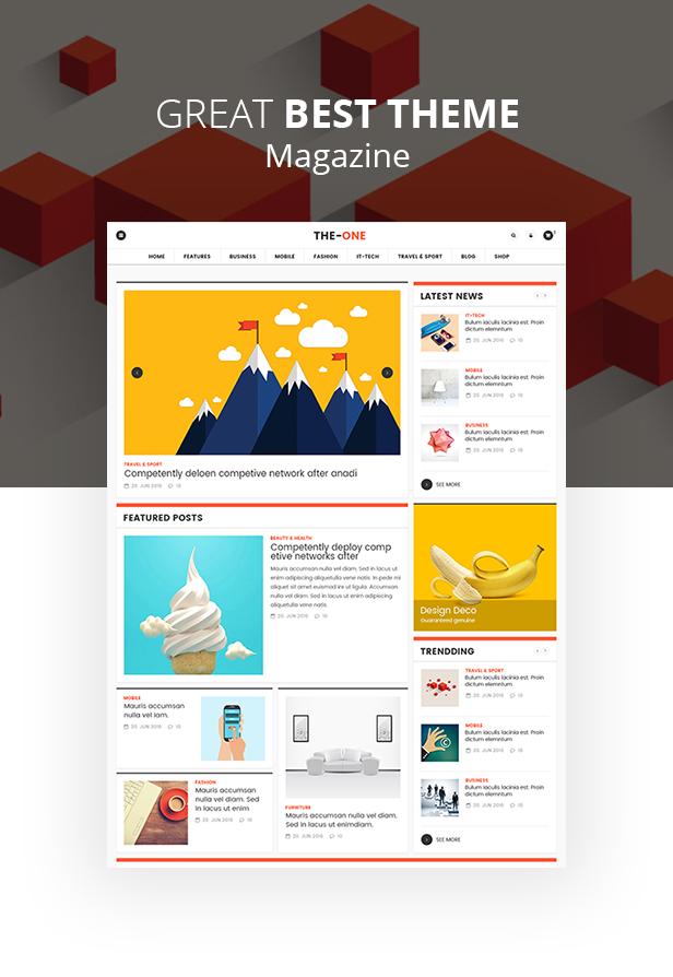 Das One News Magazine Blog - Responsives WordPress-Layout - 2