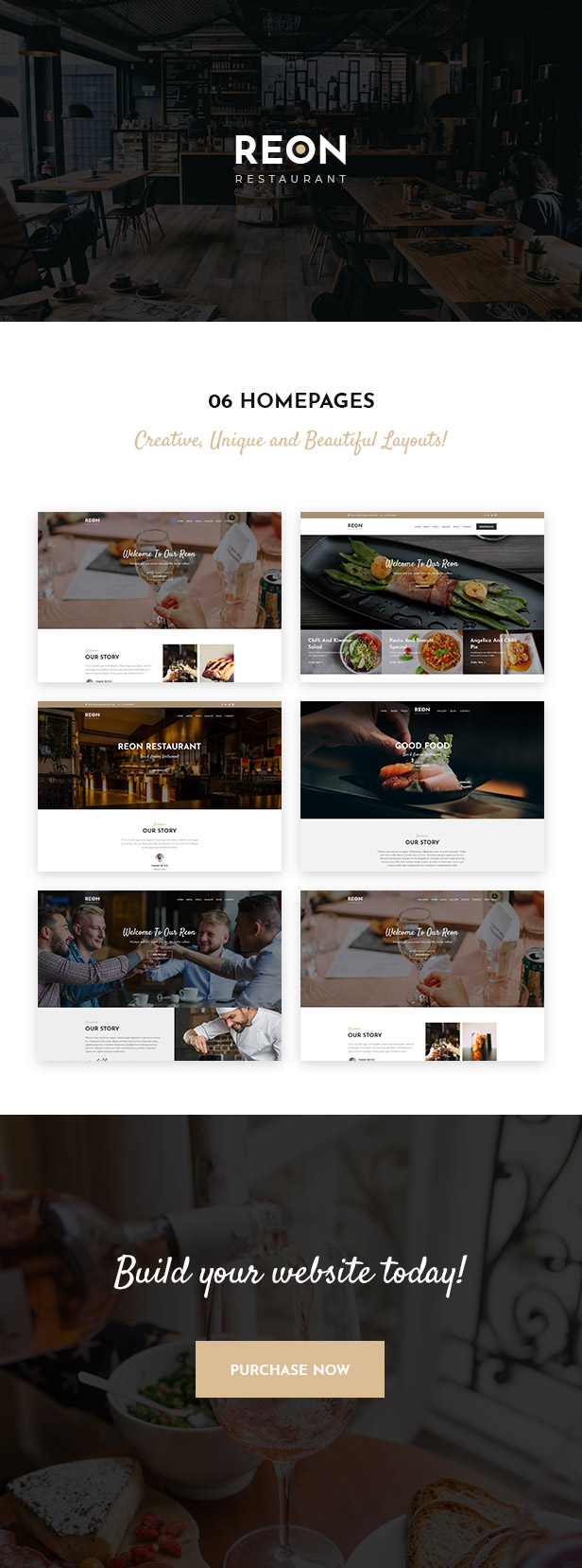 Reon - Restaurant WordPress Vorlage