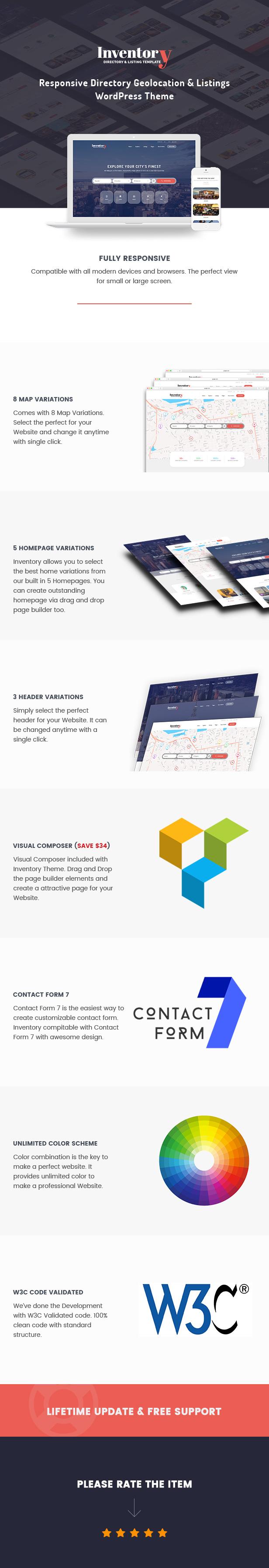 Inventar - WordPress-Verzeichnis-Vorlage