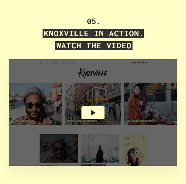 Knoxville - Responsives WordPress-Blogdesign