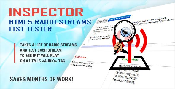 Inspector HTML5 Radio Streams Listentester