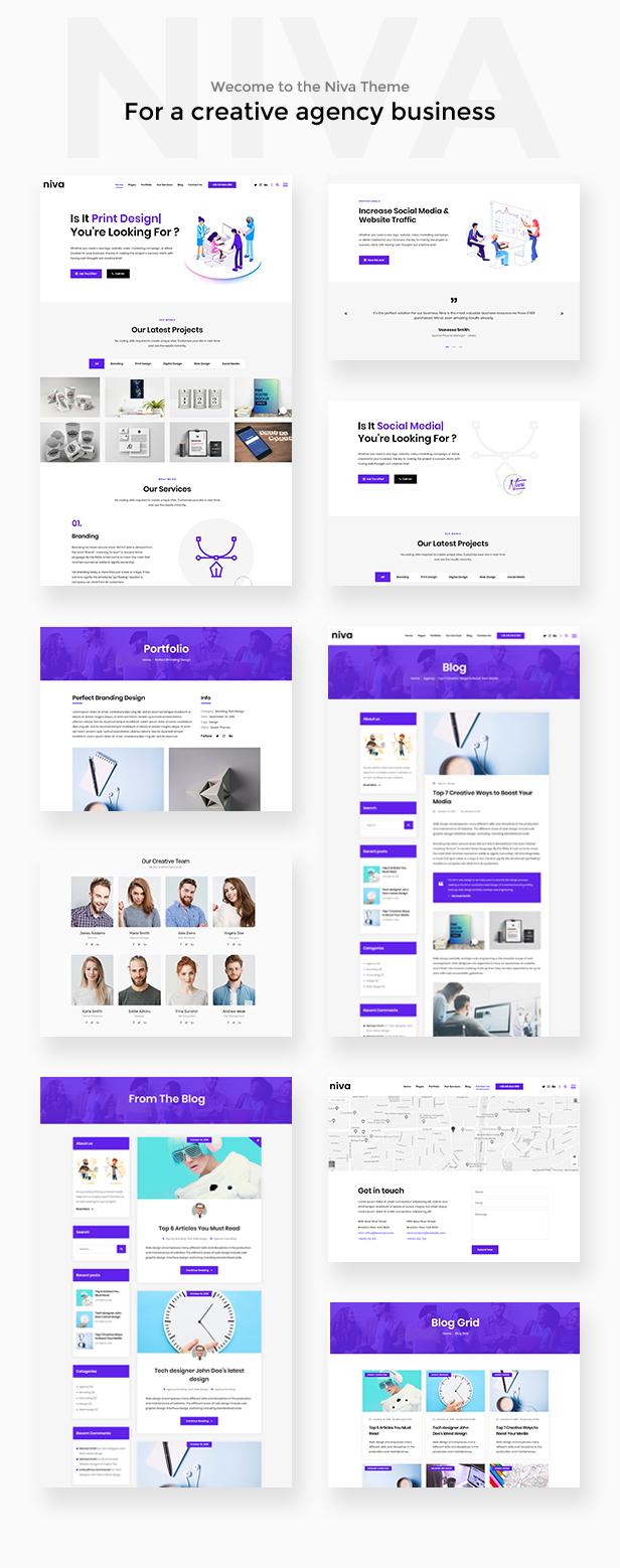 Niva - Kreativagentur & Freelancer WordPress Layout - 2