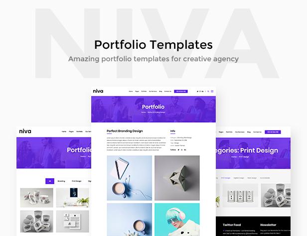 Niva - Kreativagentur & Freelancer WordPress Layout - 3