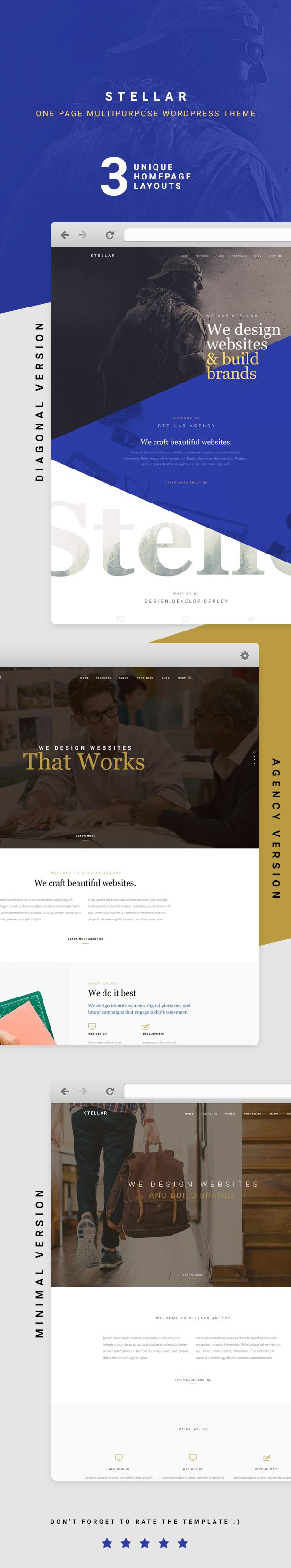 Stellar - Creative & Agency Responsive WP Template