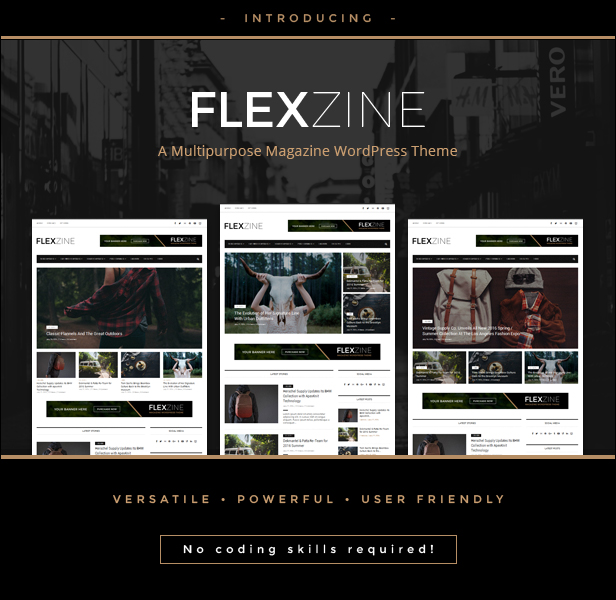 Flexzine - WordPress Blog Vorlage für das Modemagazin