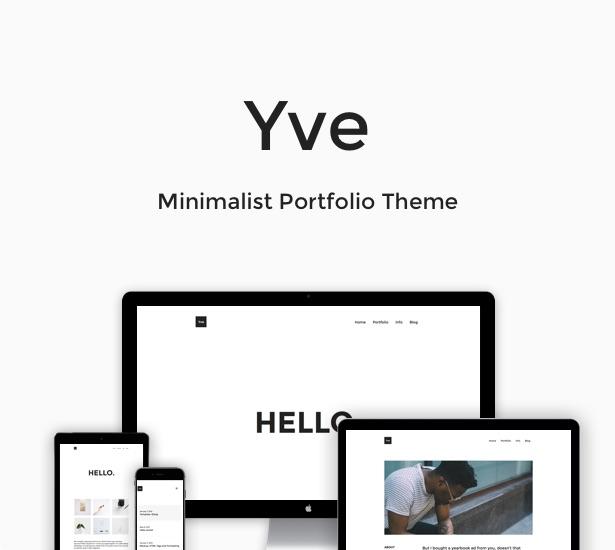 Yve - Minimalist Portfolio Layout - 2