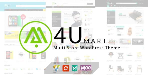 M4U - Responsives WordPress-Vorlage für mehrere Shops
