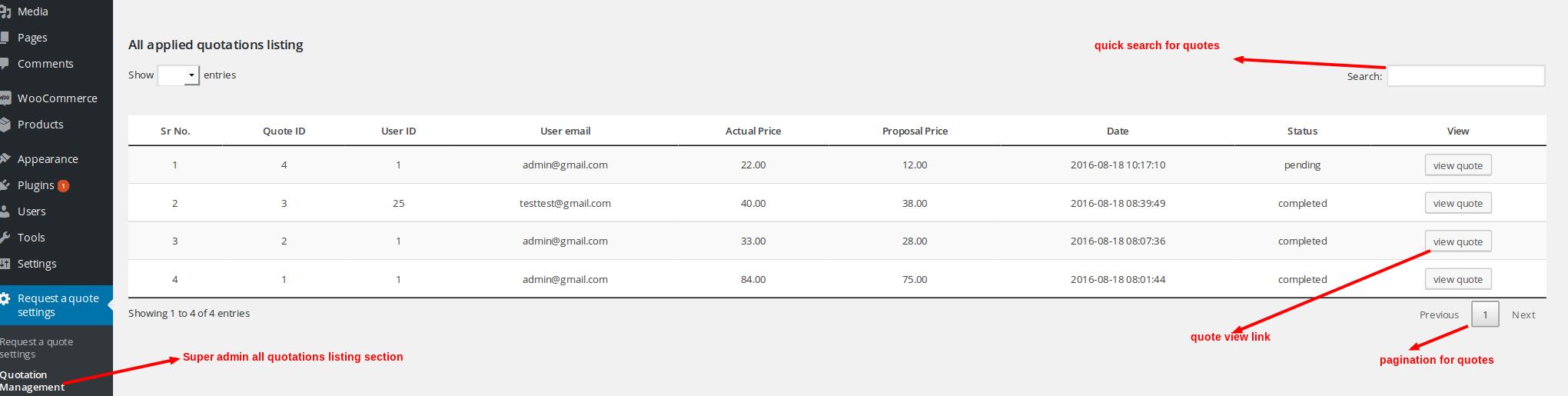 Easy WooCommerce Angebot anfordern - 6