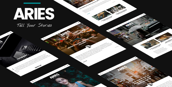 Wordpress Blog Template ARIES   Responsive Blog WordPress Theme