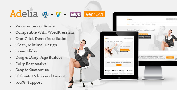 Wordpress Kreativ Template Adelia-Corporate Business Theme