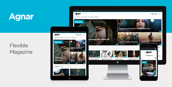 Wordpress Blog Template Agnar - Responsive WordPress Magazine & Blog Theme