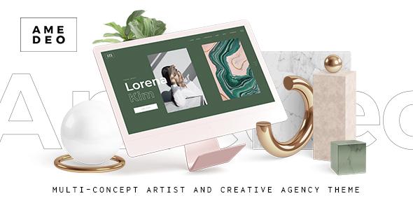 Wordpress Kreativ Template Amedeo - Multi-concept Artist and Creative Agency Theme