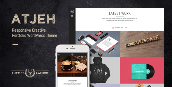 Wordpress Kreativ Template Atjeh - Responsive Creative Portfolio