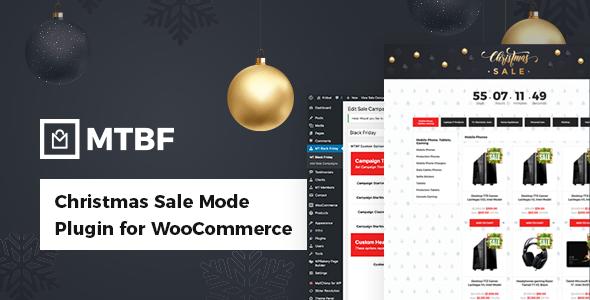 Wordpress E-Commerce Plugin Black Friday / Christmas Sales Mode Plugin for WooCommerce