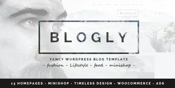 Wordpress Blog Template Blogly - Fancy WordPress Blog Theme