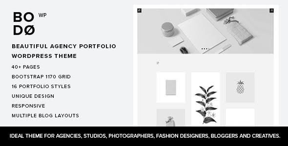 Wordpress Kreativ Template Bodo - Agency Portfolio WordPress Theme