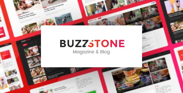 Wordpress Blog Template Buzz Stone   Magazine & Viral Blog WordPress Theme