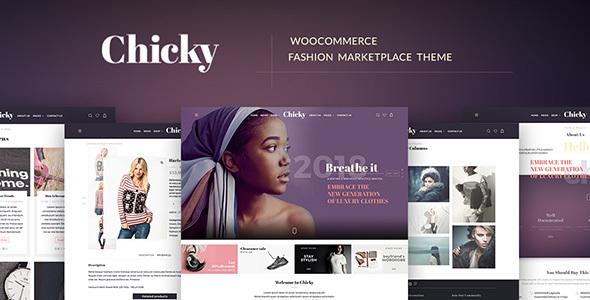 Wordpress Shop Template Chicky - WordPress Fashion Marketplace Theme