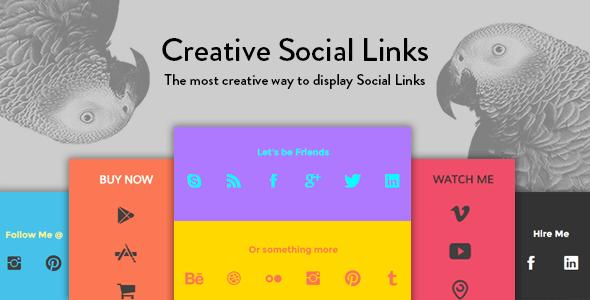 Wordpress Add-On Plugin Creative Social Links - WordPress Widget & Visual Composer Add-on