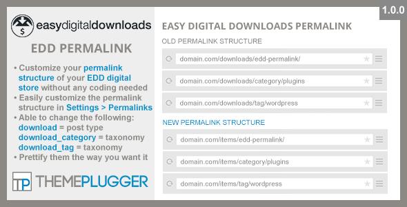 Wordpress E-Commerce Plugin Easy Digital Downloads Permalink