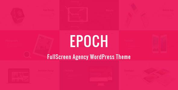 Wordpress Kreativ Template Epoch - FullScreen Agency WordPress Theme