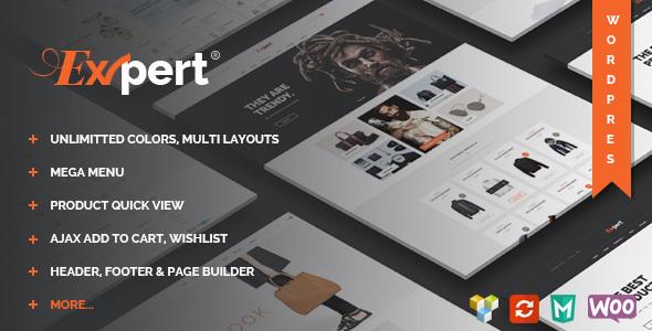 Wordpress Shop Template Expert - Clean eCommerce WordPress Theme