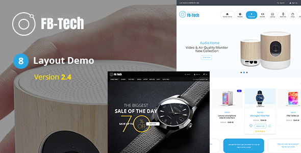 Wordpress Shop Template FBTech - Digital RTL WooCommerce Theme