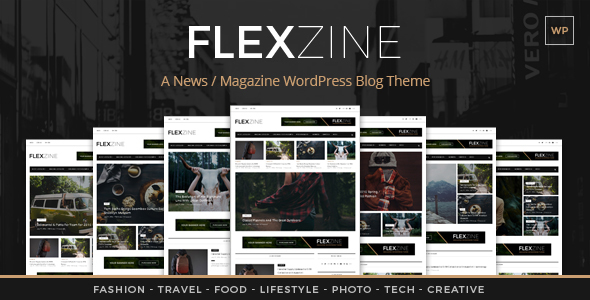 Wordpress Blog Template Flexzine - Fashion Magazine WordPress Blog Theme