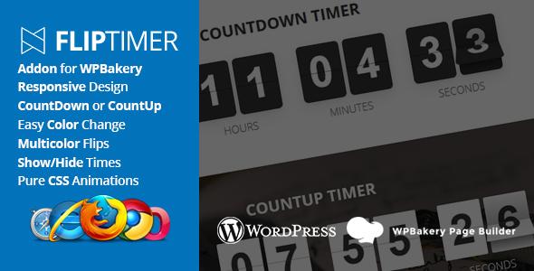 Wordpress Add-On Plugin FlipTimer - Addon for WPBakery Page Builder