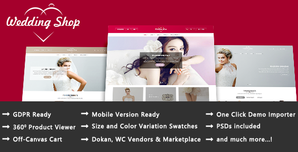 Wordpress Shop Template Wedding Shop - Love Paradise Responsive WooCommerce WordPress Theme