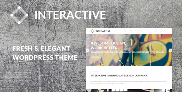 Wordpress Kreativ Template Interactive - Elegant & Creative WordPress Theme