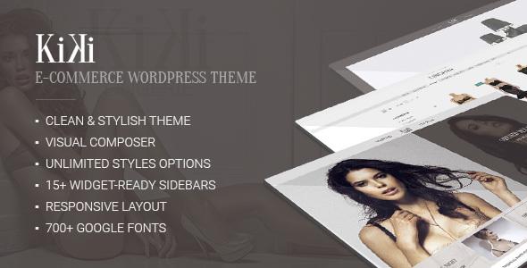 Wordpress Shop Template Kiki — Multipurpose Modern WooCommerce Fashion Shop