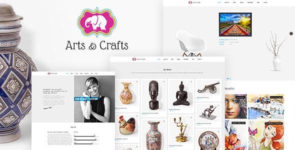 Wordpress Kreativ Template Crafts & Arts | Artist Portfolio Theme