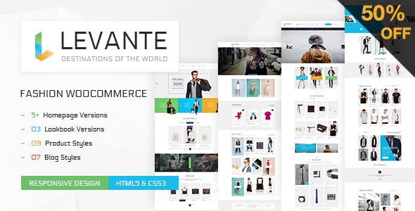 Wordpress Shop Template LEVANTE - Clean WooCommerce WordPress Theme